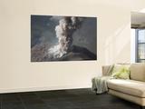 Eruption of Ash Cloud from Santiaguito Dome Complex  Santa Maria Volcano  Guatemala