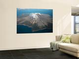 Aerial Image of Mount St Augustine Volcano  Cook Inlet  Alaska