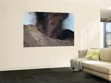 Strombolian Eruption of Stromboli Volcano Producing Ash Cloud  Volcanic Bombs and Lava  Italy