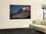 Glowing Lava Dome During Eruption of Soufriere Hills Volcano  Montserrat  Caribbean