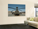 An Apache Helicopter at Camp Bastion  Afghanistan