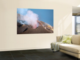 Strombolian Eruption of Stromboli Volcano  Aeolian Islands  Mediterranian Sea  Italy