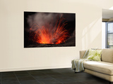 Strombolian Eruption of Mount Bromo Volcano  Tengger Caldera  Java  Indonesia
