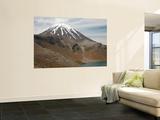 Ngauruhoe Cone and Upper Tama Lake  Tongariro Volcanic Complex  New Zealand