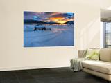A Winter Sunset over Tjeldsundet at Evenskjer  Troms County  Norway
