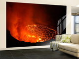 Lava Lake in Pit Crater  Nyiragongo Volcano  Democratic Republic of Congo