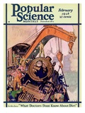 Front Cover of Popular Science Magazine: February 1  1928