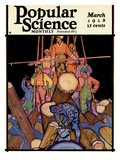 Front Cover of Popular Science Magazine: March 1  1928