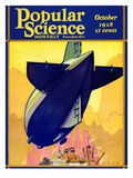 Front Cover of Popular Science Magazine: October 1  1928
