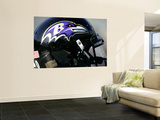 Ravens Raiders Football: Oakland  CA - A Baltimore Ravens Helmet