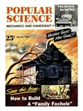 Front cover of Popular Science Magazine: March 1  1951