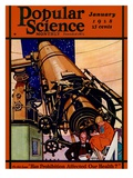 Front Cover of Popular Science Magazine: January 1  1928