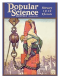 Front Cover of Popular Science Magazine: February 1  1929