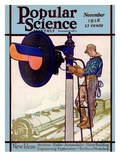 Front Cover of Popular Science Magazine: November 1  1928