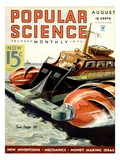 Front cover of Popular Science Magazine: August 1  1930