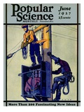 Front Cover of Popular Science Magazine: June 1  1927