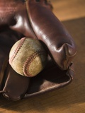 Baseball and Old Mitt