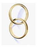 Two interlocked wedding rings