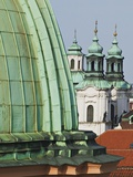 Church Dome and Bell Towers in Prague