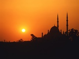 Mohammed Ali Mosque in Cairo  Egypt  at sunset