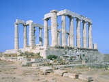 Poseidon Temple in the Sounion National Park   Attica  Greece