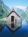 Fisherman's house in the Ober Lake  Bavaria  Germany