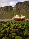 Norway/Lofoten: stranded trawler near Unstad