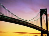 Verrazano Narrows Bridge at Dusk