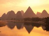 Li River Guilin  Yangshuo  Guangxi Province  China