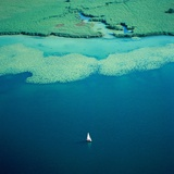 Sailing boat on lake  Bavaria  Germany