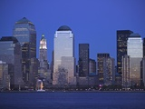 Skyline of Manhattan at Twilight