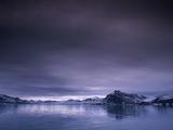 Arctic fjord  St Jonsfjorden  Spitzbergen  Norway