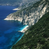 Steep coast on Kefalonia  Greece