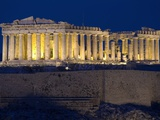 Athens Parthenon at Dusk