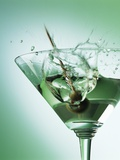Martini with Olive Splash