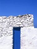 Door and front of a building  Mykonos  Greece