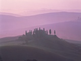 House at dawn in the Tuscany