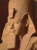 Head of a statue in Abu Simbel - Egypt