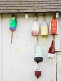 Lobster Buoys on Hut