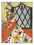 Book Illustration of the Queen in the Ebony Window by Bess Livings