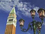 Campanile and Street Lamp