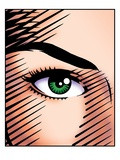 Woman&#39;s Green Eye