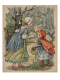 Little Red Riding Hood Sets Out to Visit Granny