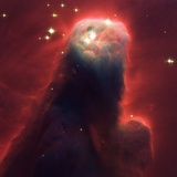 Pillar of Star-Forming Gas and Dust