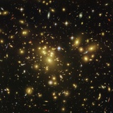 Gravitational Lens of a Galaxy Cluster