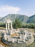 Tholos of the Athena Pronaia in Delphi  Greece