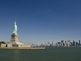 Statue of Liberty  Liberty Island and New York Skyline