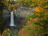 Waterfall Amongst Autumn Foliage