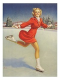 Ice Skating Pinup Girl by Al Buell
