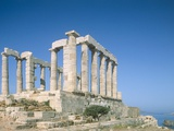 Poseidon Temple in the Sounion National Park  Greece  Attica